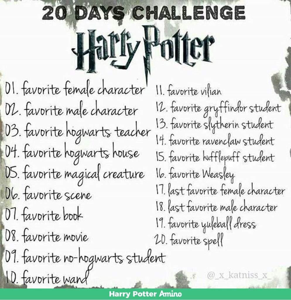 20 Days Challenge! | Harry Potter Amino