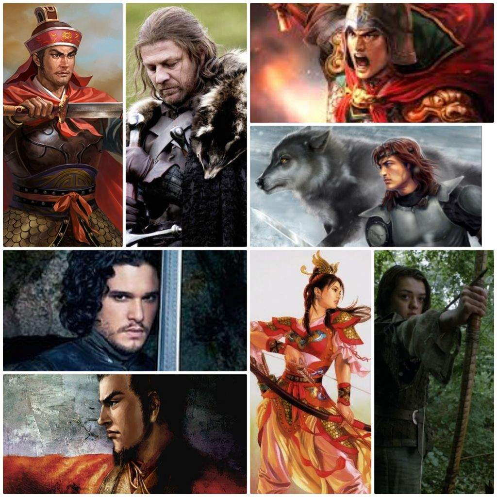 The starks chinese counterparts