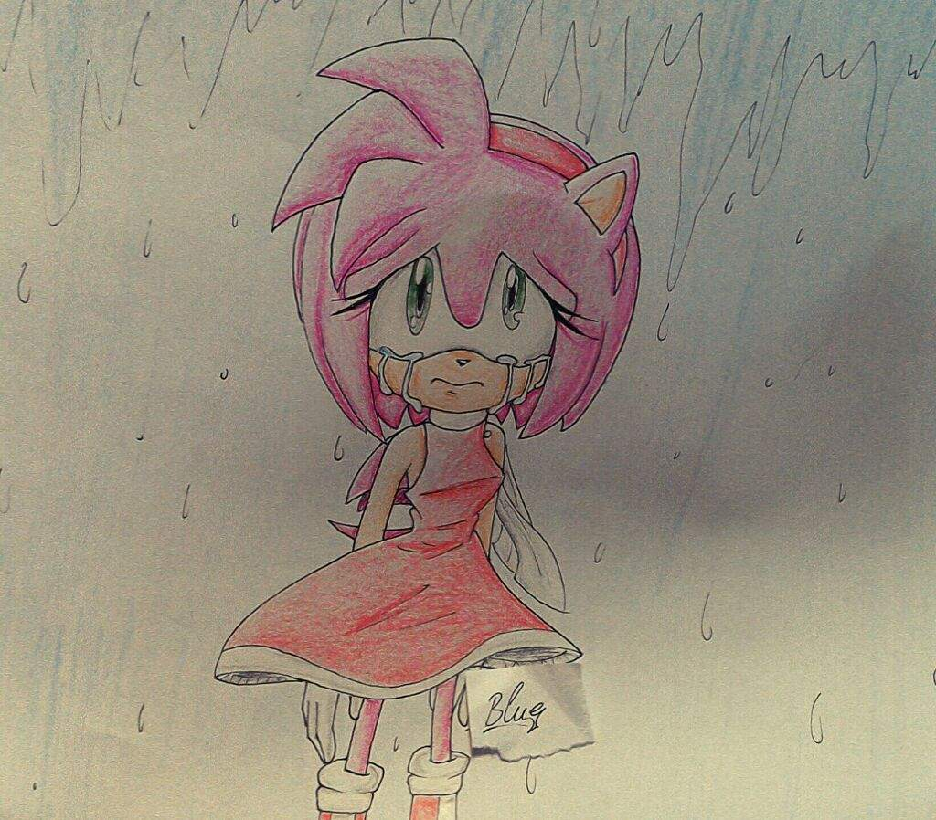 Sad Amy Rose Fanart Sonic The Hedgehog Amino