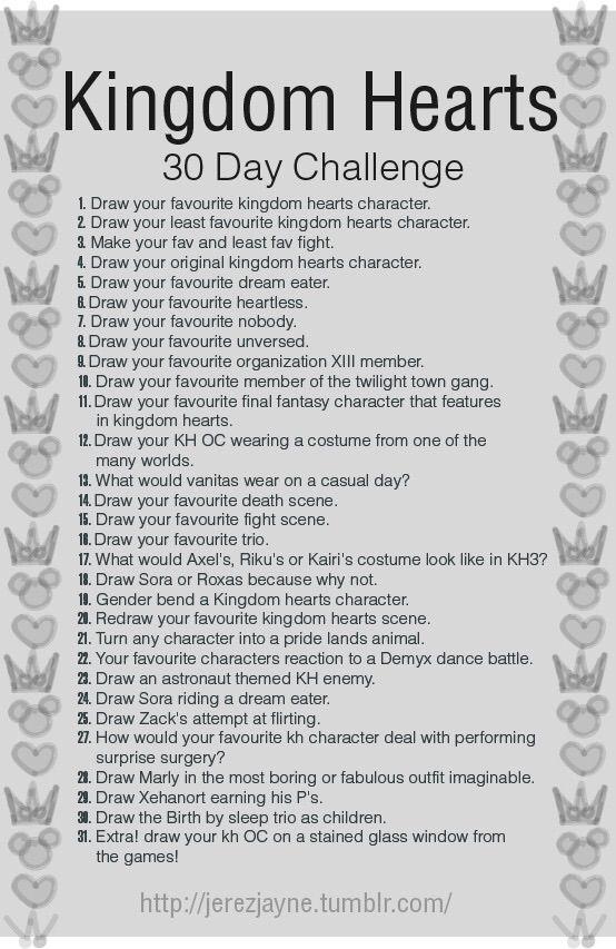 30 Day Kingdom Hearts Drawing Challenge Day 1 Kingdom Hearts Amino