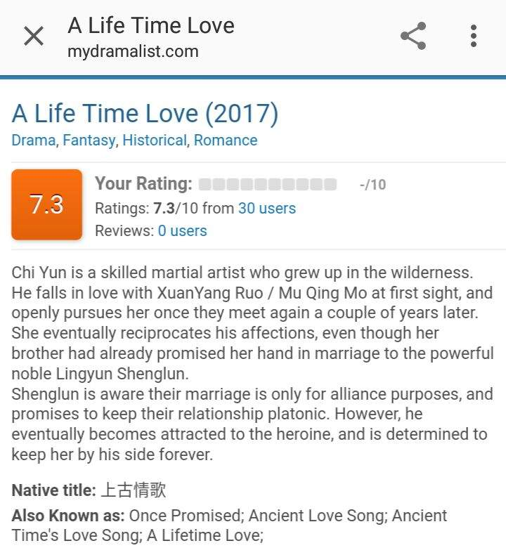 Looking for English Subs || A Life Time Love | Asian Dramas