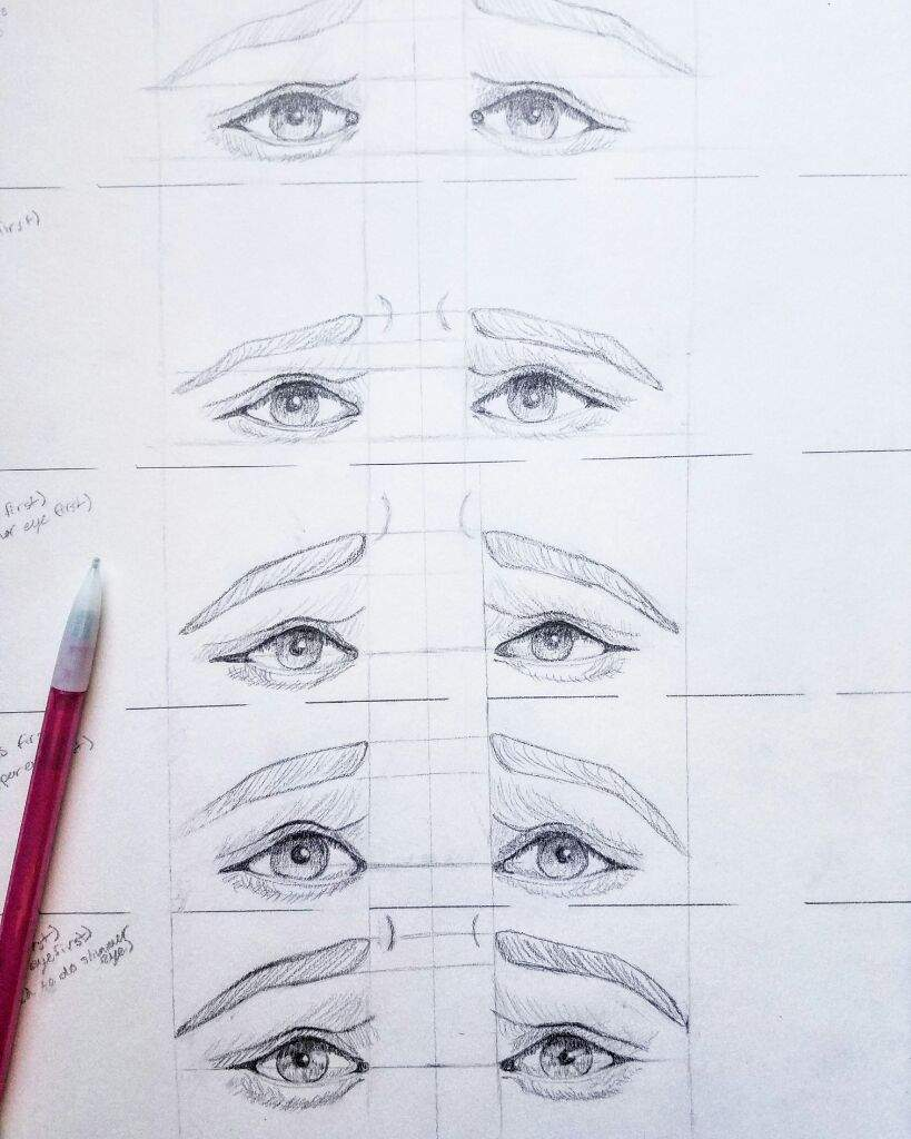 Sad eyes practice sketches