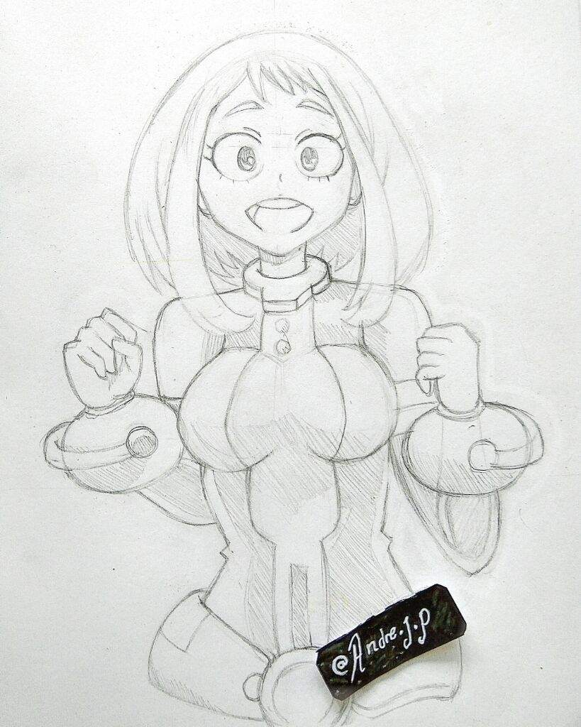 🌟Uraraka🌟 Coloreado terminado.🎧✍🎨💚💚🌟 | •Anime• Amino