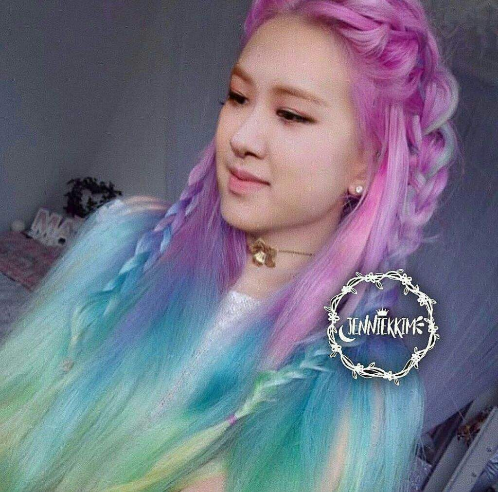 Ros Amazing Rainbow Hair Color Edit Blink Amino