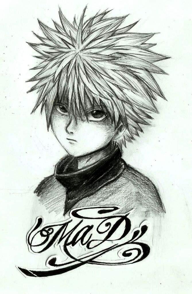 Killua Zoldyck Dibujo A Lápiz Anime Amino