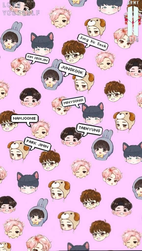 Bts Chibi Wallpapers If U Want An Individual Member Lmk Jeon
