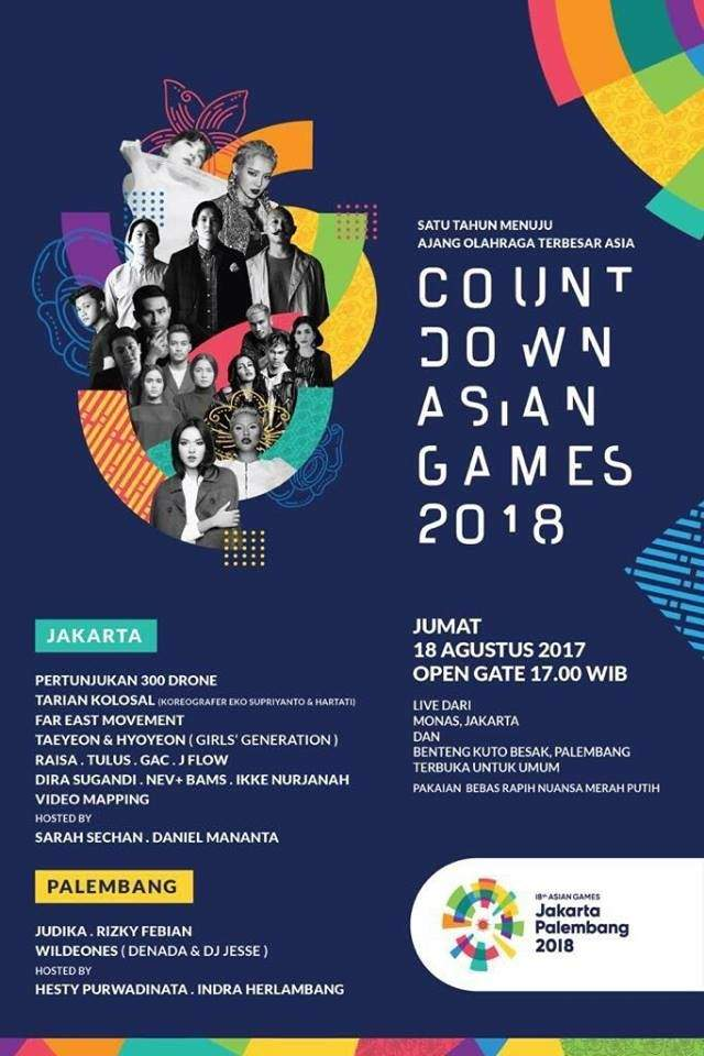 It Will Be For The Countdown Asian Games  Which Will Be Held In Jakarta At Monas On The Th Of August