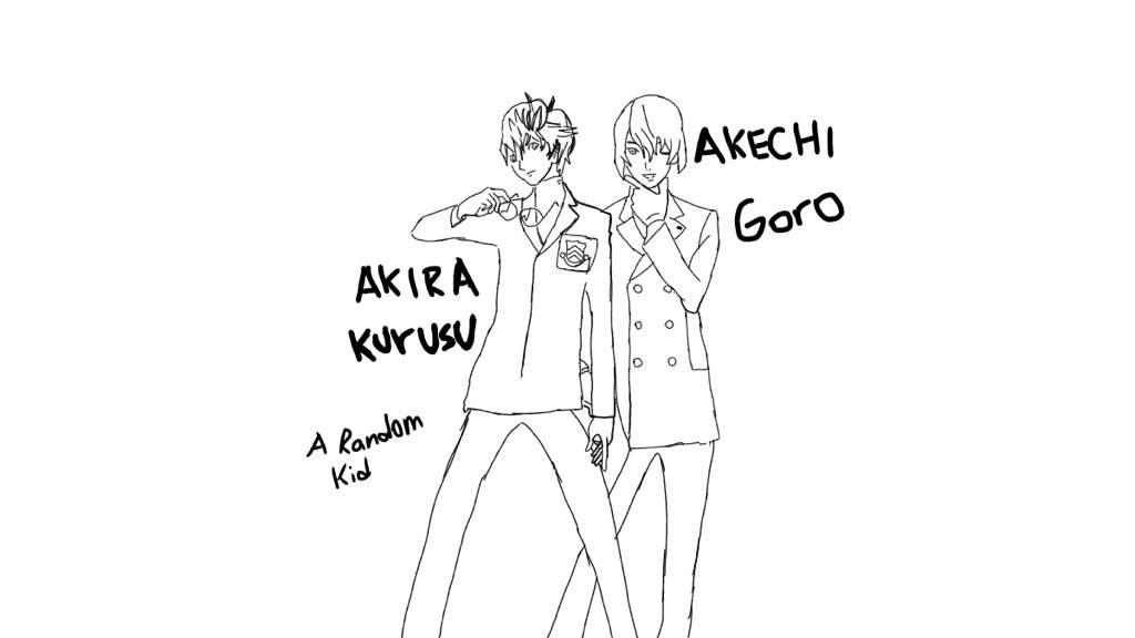 Akira Kurusu Akechi Goro Digital Drawing Smt Persona 5 Amino