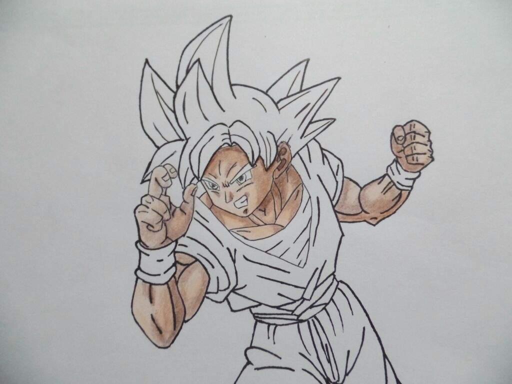 Imagenes De Goku Dios Rojo Para Colorear