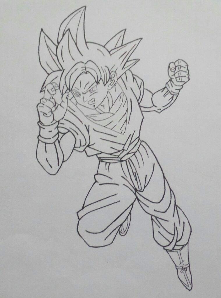 Goku Ssj Dios Rojo Dibujo Thepix Info