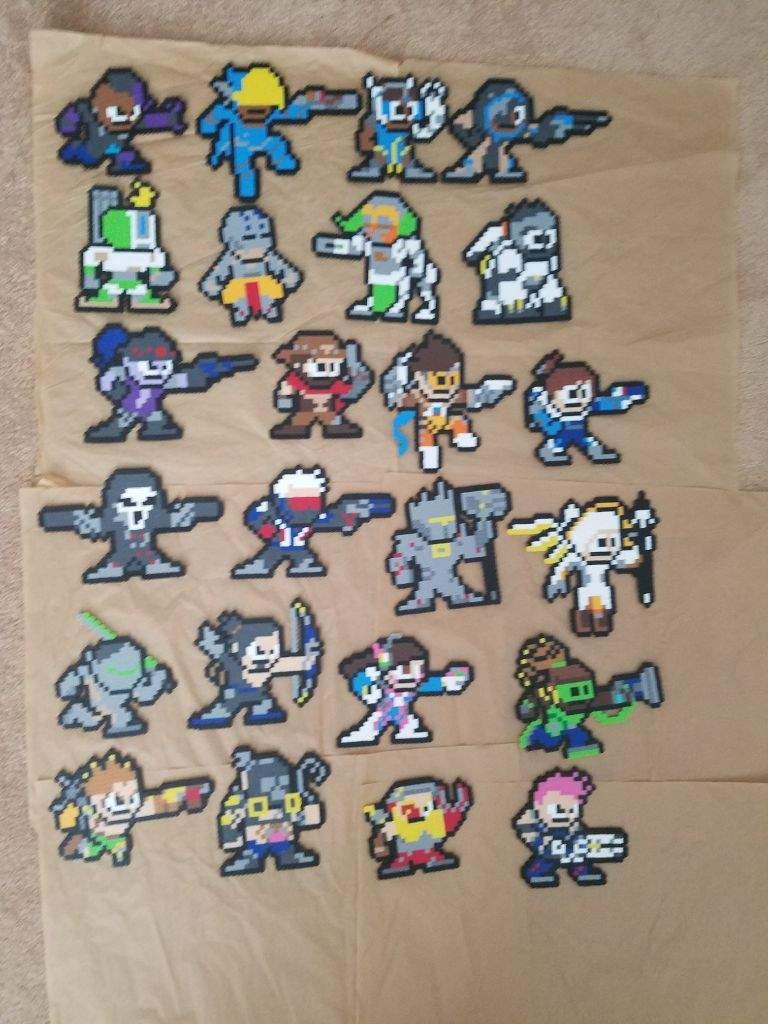 Overwatch Perler Bead Pixel Art Beads And Pixels Amino Amino