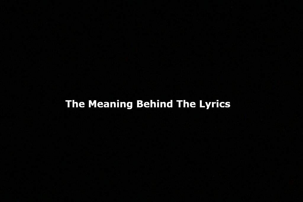 Lyric black lyrics : The Meaning Behind The Lyrics] BTS: Baepsae | ARMY's Amino