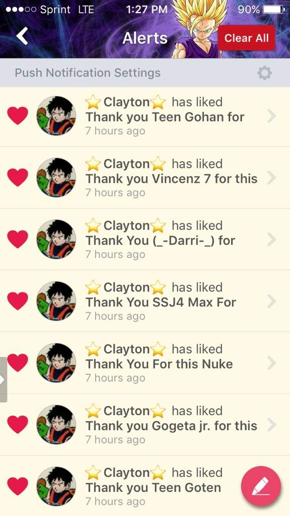 Thank you for this Nuke ⭐Clayton⭐!!!! ~~✨✨ | DragonBallZ