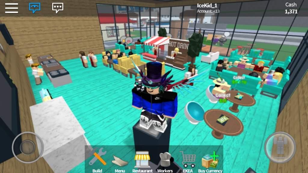 My restaurant in restaurant tycoon! | Roblox Amino