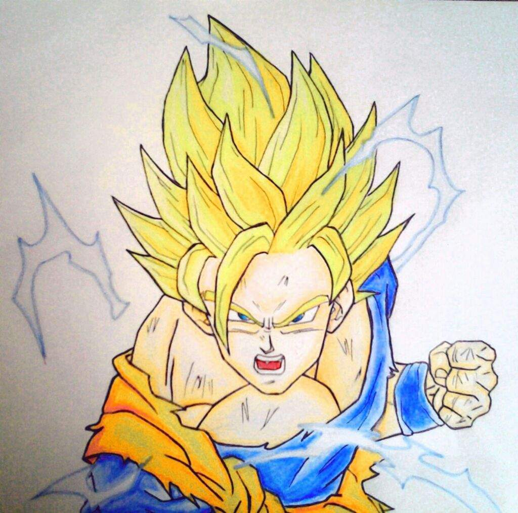 Drawing Super Saiyan 2 Goku Dragonballz Amino