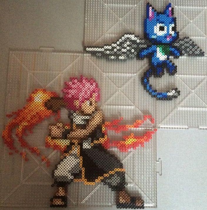Natsu Dragneel Pixel Art Fairy Tail Amino