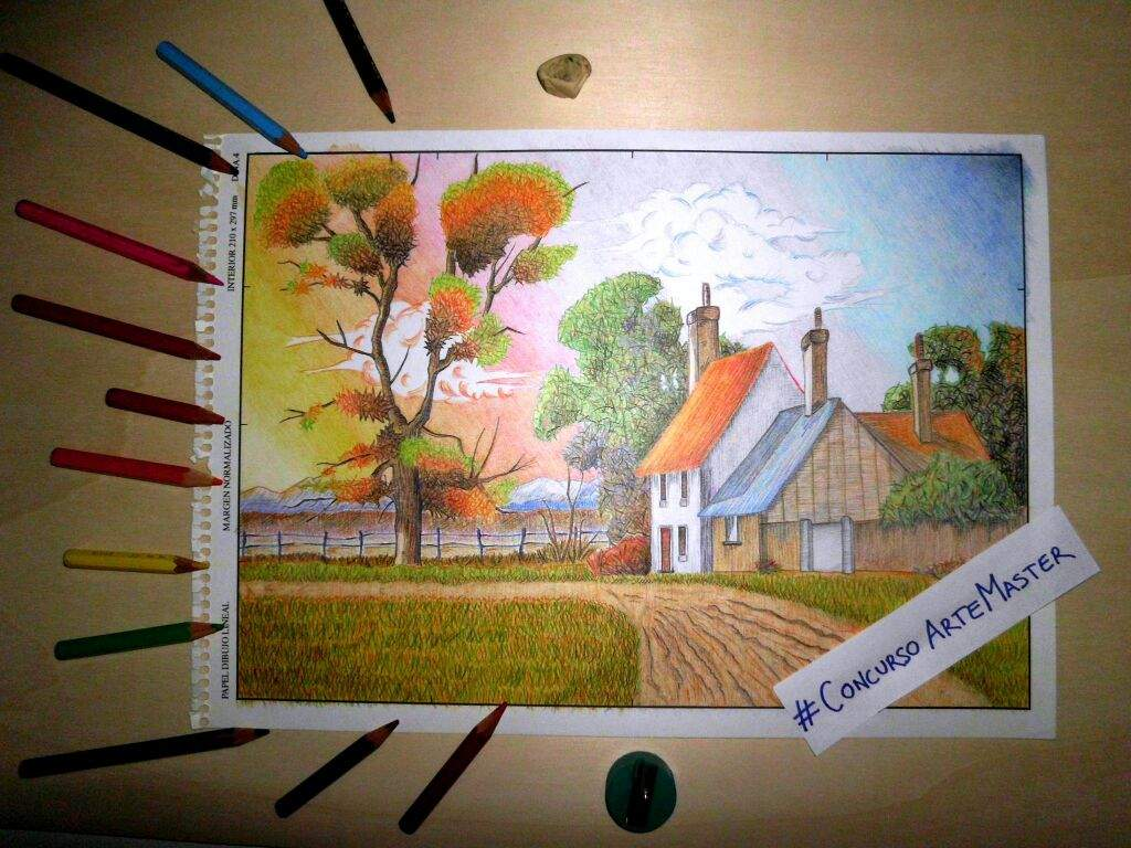 Dibujos De Paisajes En Color: Dibujar Paisajes Con Lapices De Colores