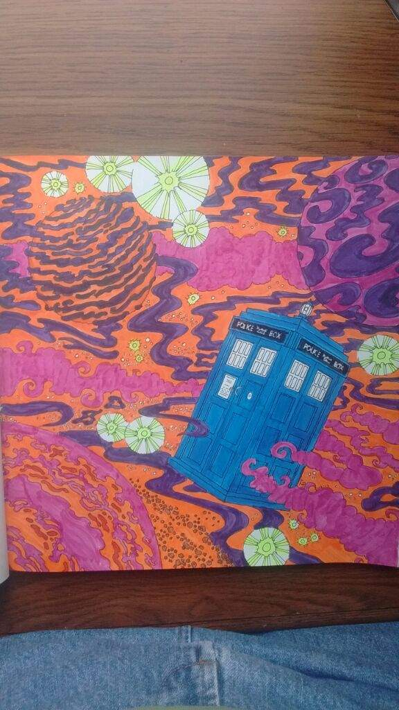 This One Is NOT MY LINE ART It From The Doctor Who Coloring Book And I Colored With My Pigma Brush Pens