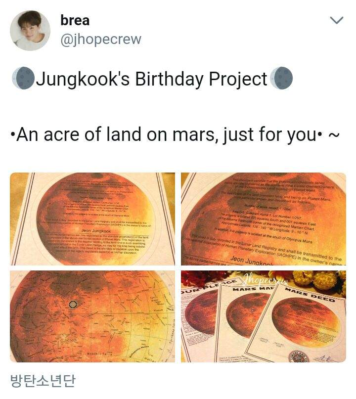 This Bts Fan Bought Jungkook An Acre Of Land On Mars Army S
