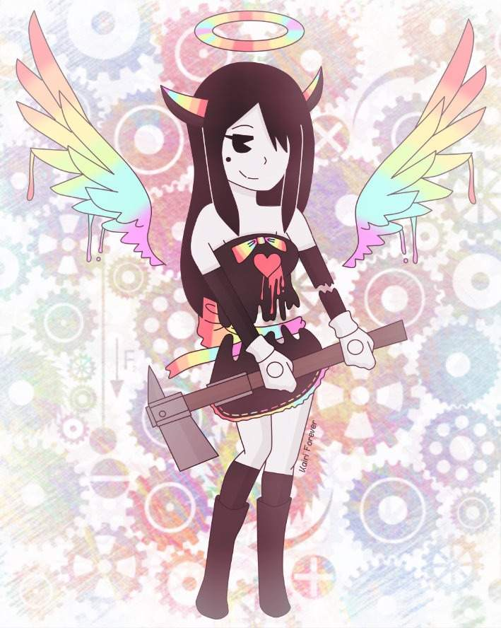 Alice Angel With Color Bendy And The Ink Machine Amino