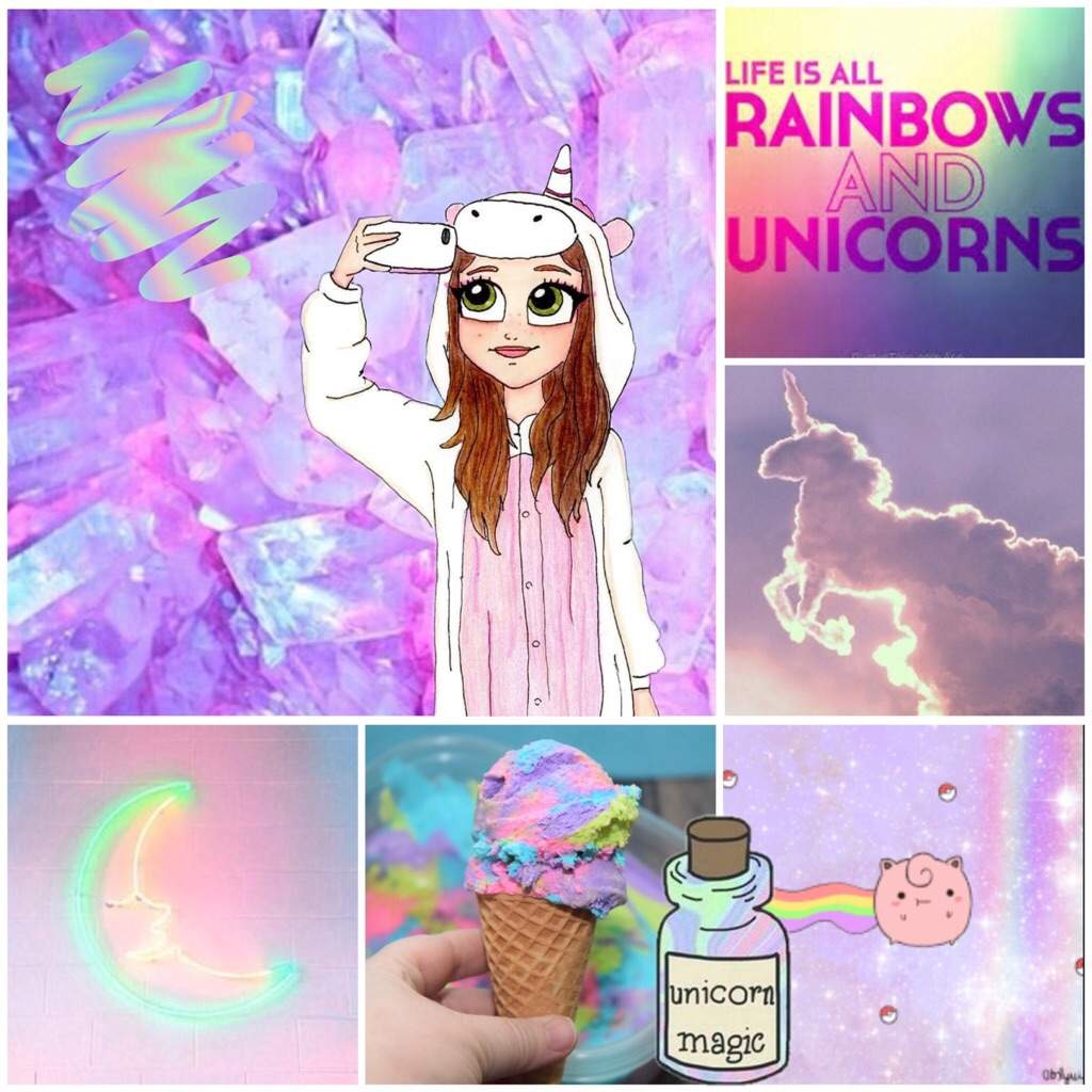 Unicorn Rainbow Aesthetic Mood Board Kawaii Amino Amino