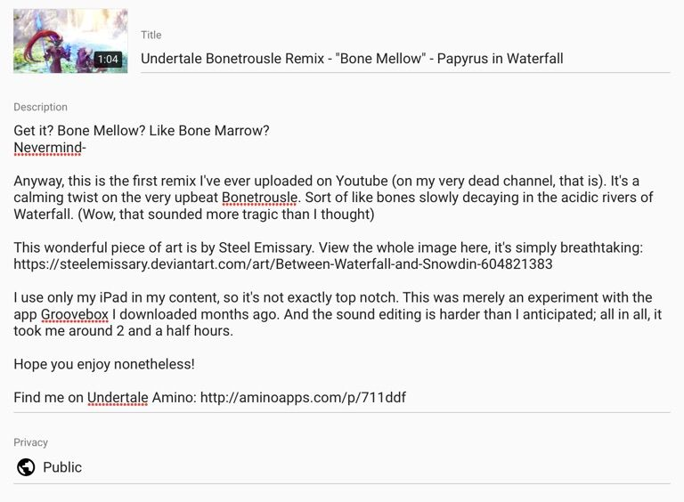 Undertale Bonetrousle Remix -