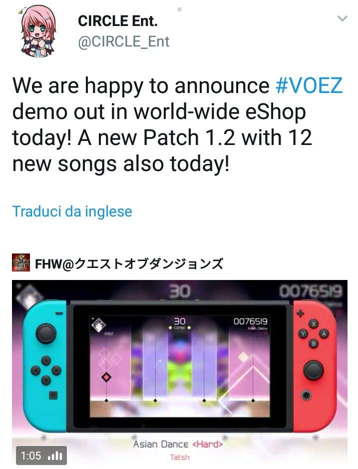 Voez Demo Now Available On The Japanese Eshop Update Also In Other Regions Nintendo Switch Amino