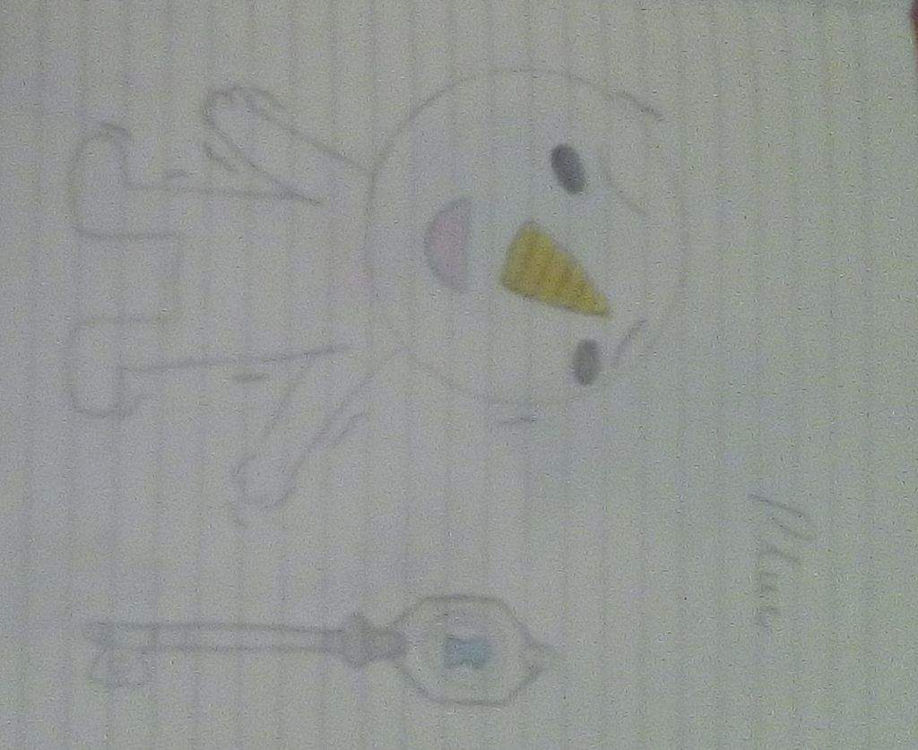 That Is My Plue I Had Draw Him Because I Think He Is So Cute