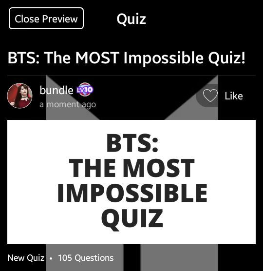 bts the most impossible quiz info 105 questions army s amino