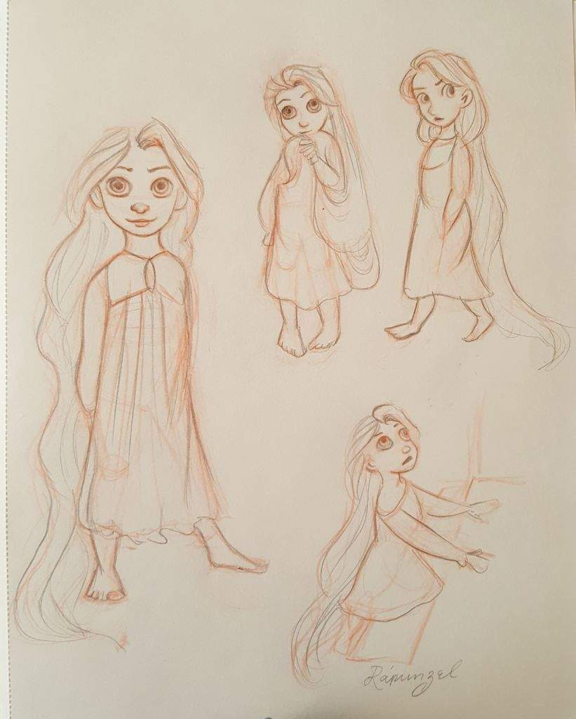 Concept Sketches From The Art Of Tangled Disney Amino
