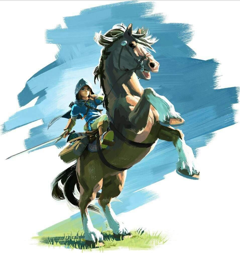 Horse Link Botw Fanart Zelda Amino