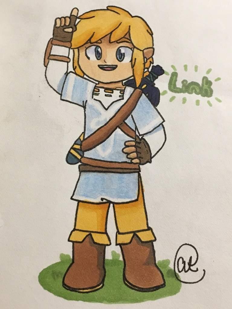 Legend Of Zelda Botw Link Fanart Zelda Amino