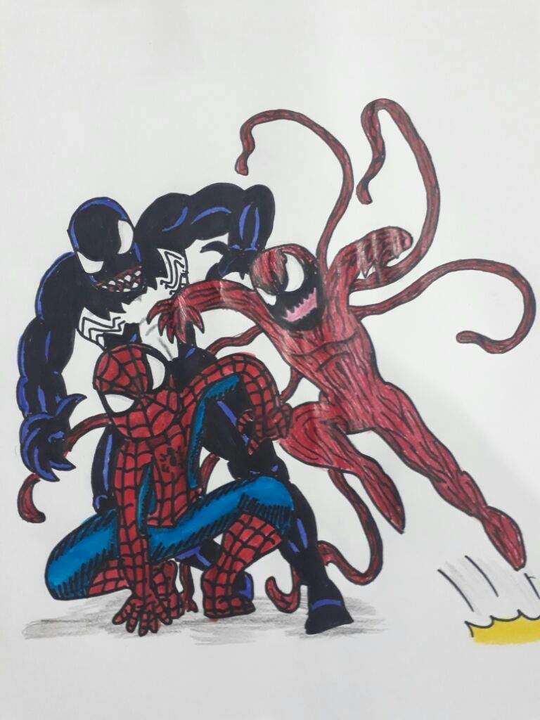 Venom And Carnage Draw Webslinger Amino Amino