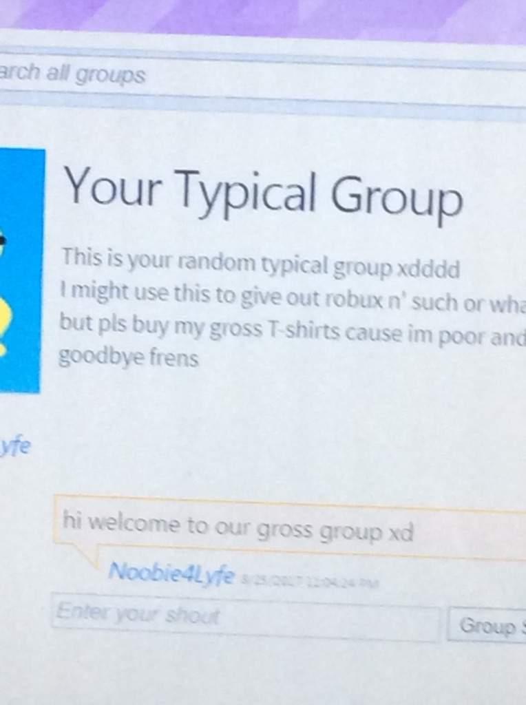 Hey I made a group xdd | Roblox Amino