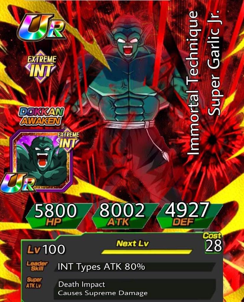 Super Garlic Jr Custom Cards Dokkan Battle Amino Dragon ball xenoverse mods pc gameplay! super garlic jr custom cards dokkan