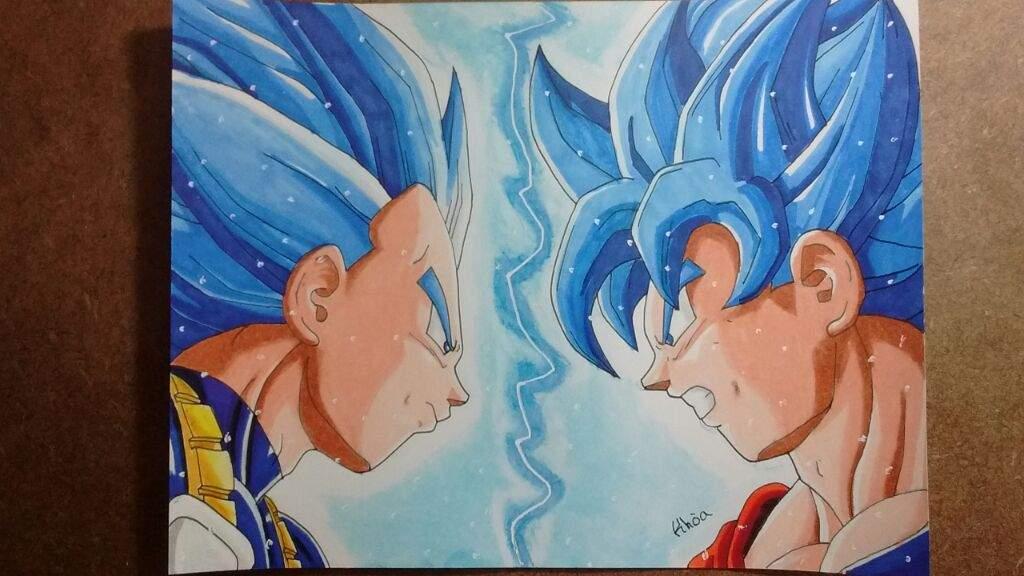 Fotos De Vegeta Color Azul: VEGETA VS GOKU SSJ DIOS AZUL