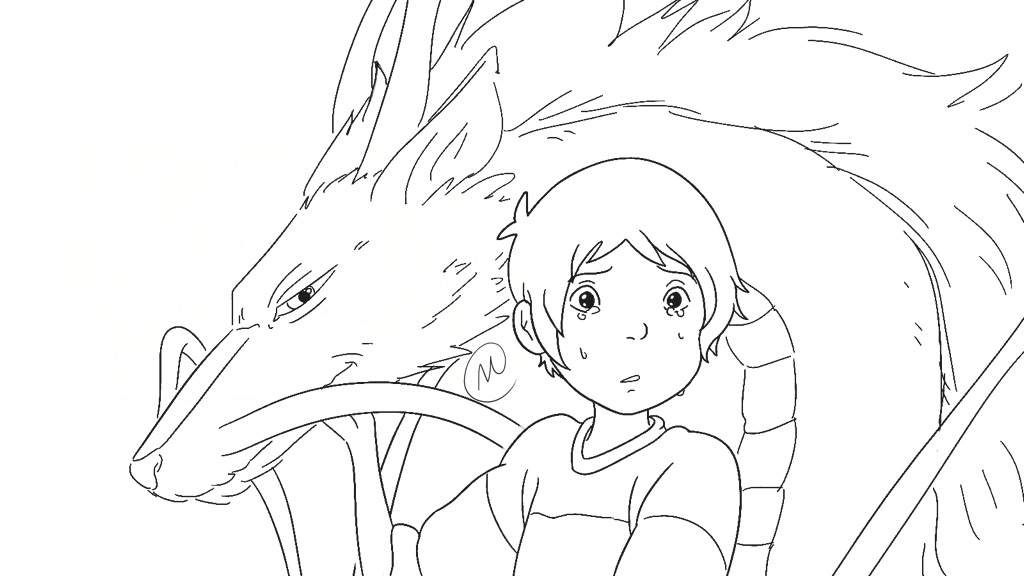 Klance Spirited Away Ignore The Retarded Face Outline Lmaoo I Cant Color It Cus The Layers Got Messed Up And Im Bitter Af Klance Amino