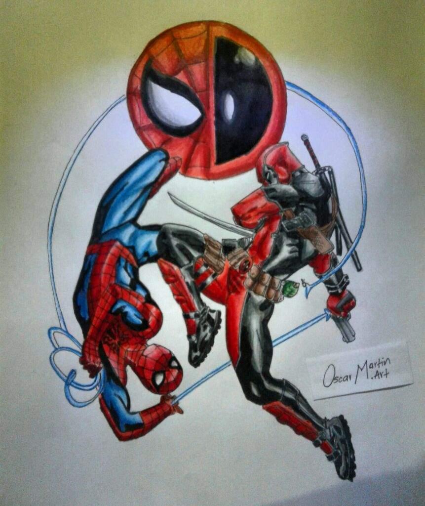 Aqui Les Traigo El Dibujo De Spiderman Vs Deadpool Dibujarte Amino