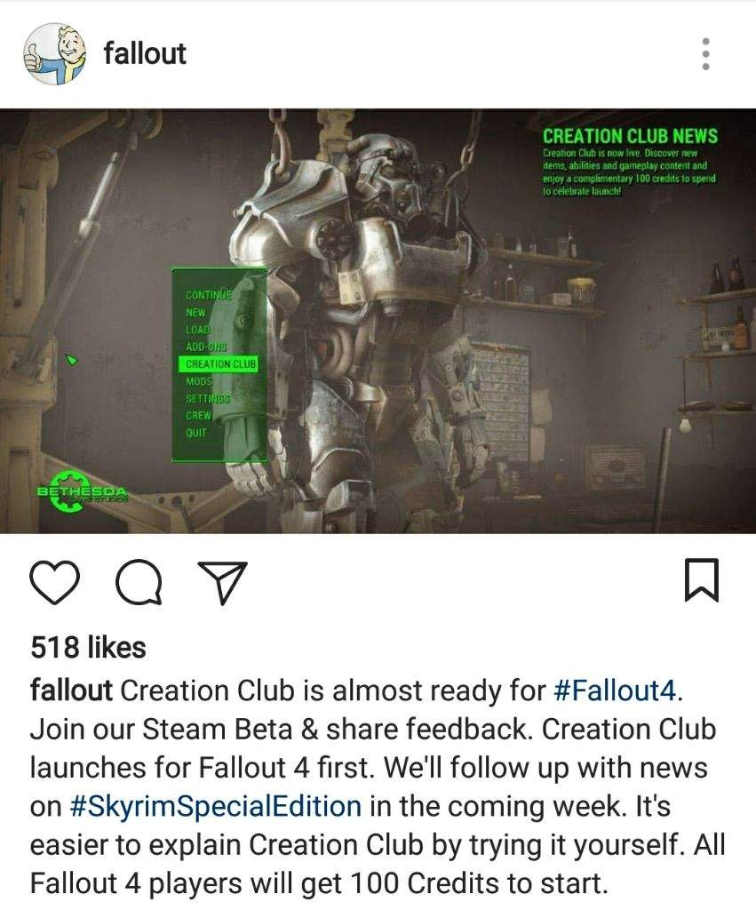 Creation Club News | Fallout Amino