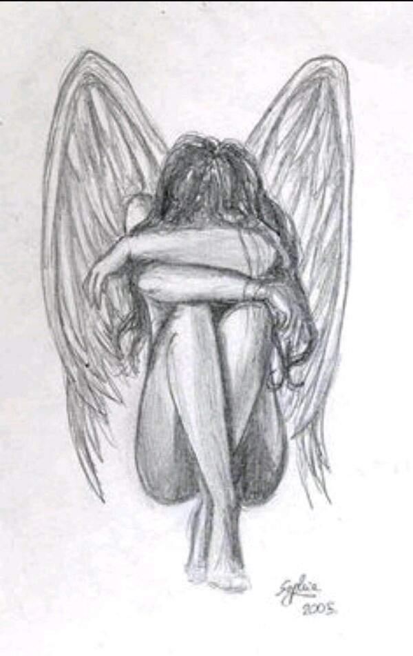Desenhos De Anjos Caidos Para Desenhar Mmod