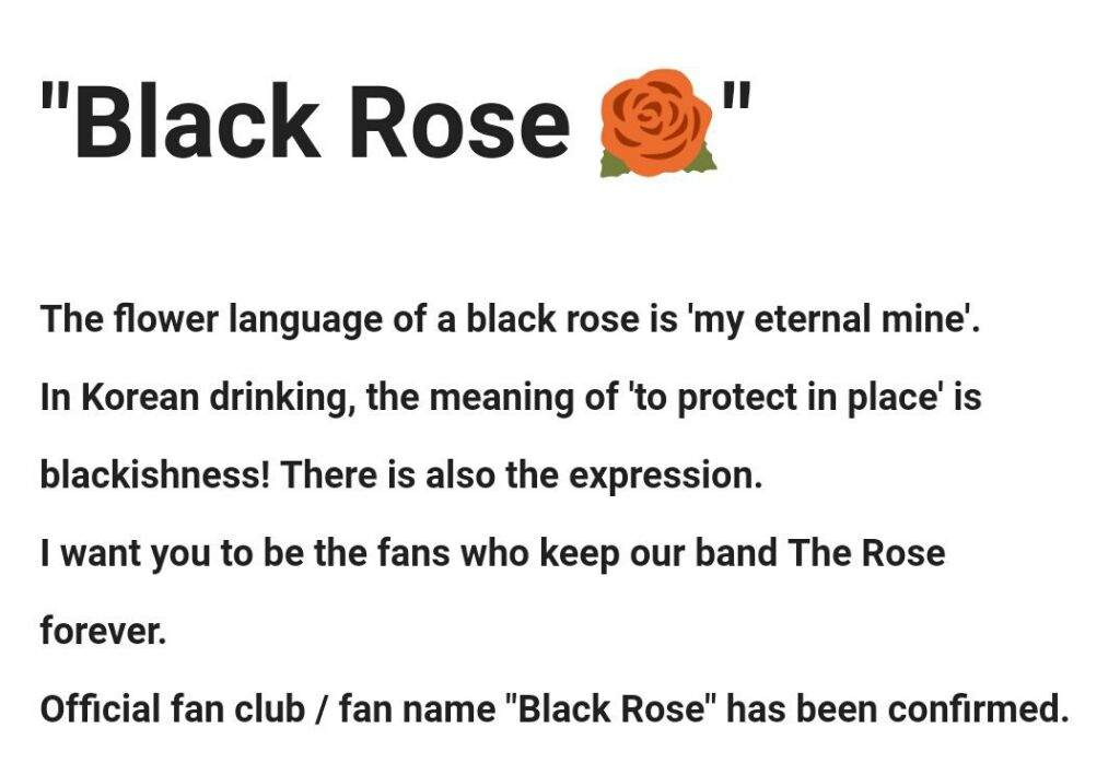Official Fandom Name The Rose Amino