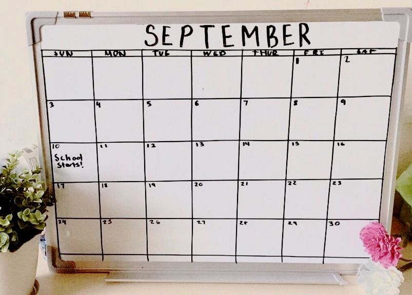 Diy Whiteboard Calendar Studying Amino Amino