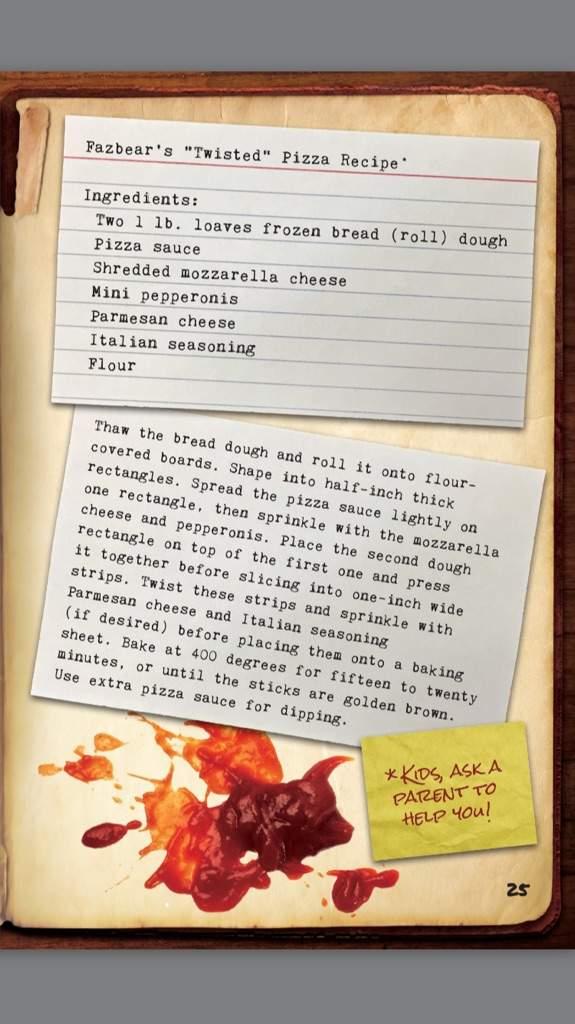 THE SECRET RECIPE OF FREDDY FAZBEAR'S PIZZA | Five Nights At