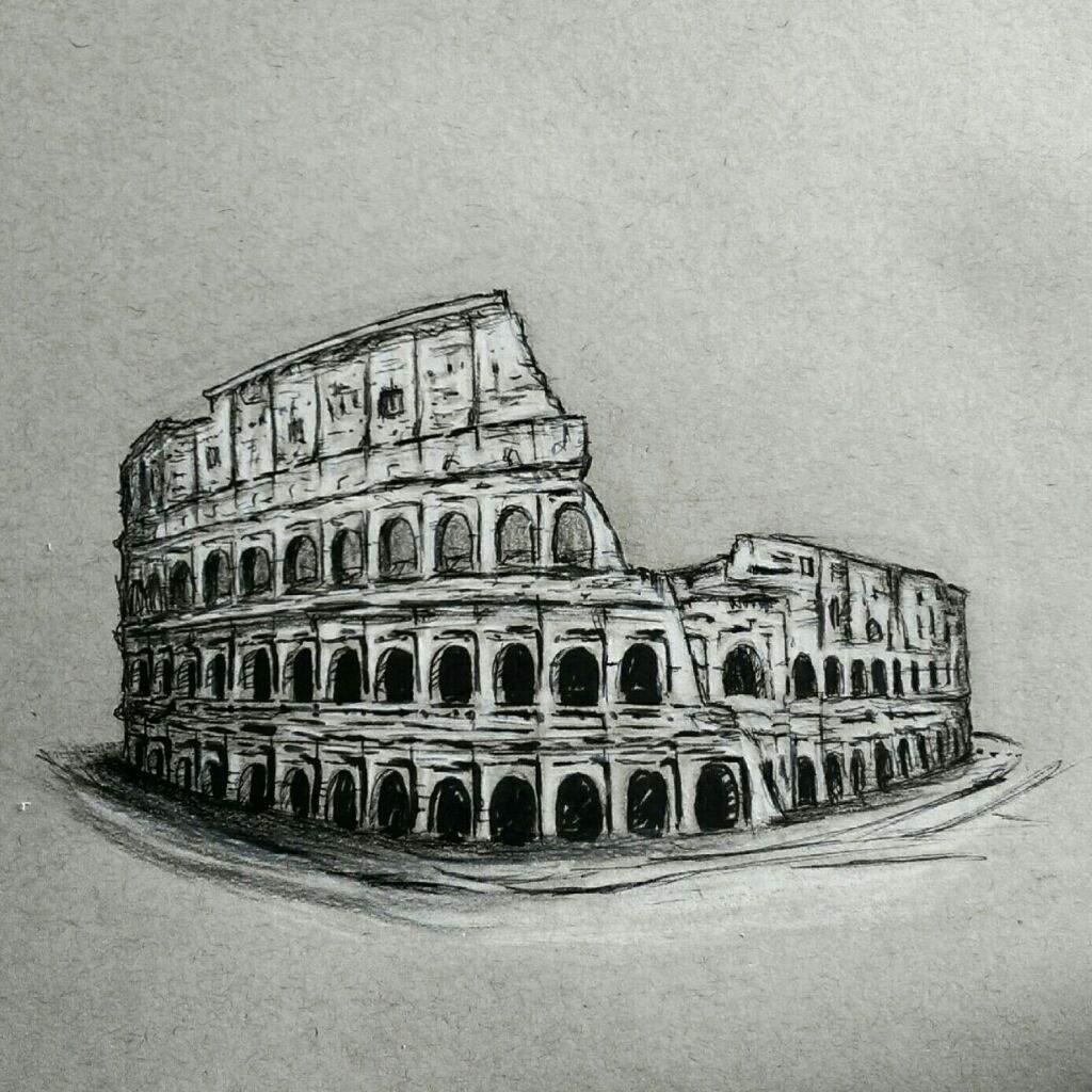 Coliseo Romano Mipropioarte Dibujarte Amino