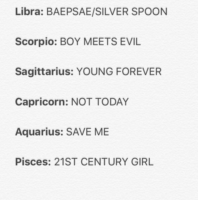 ZODIAC SIGNS AS BTS SONGS! | ARMY's Amino