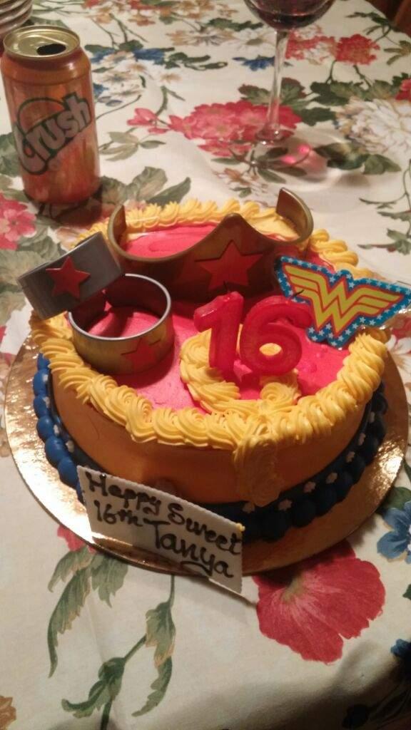 My Wonder Woman Birthday Cake