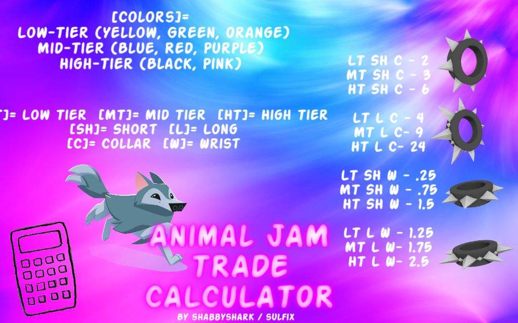 Animal Jam Spike Trade Calculator | AJ Amino Amino