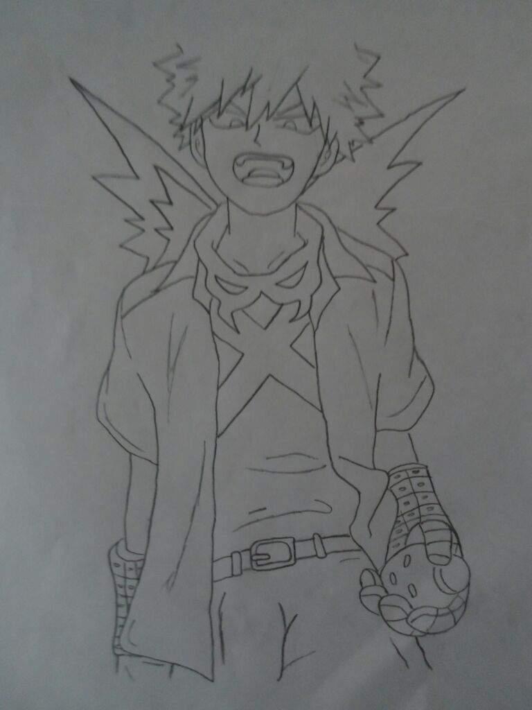 Mi nuevo dibujo de Bakugō (SHINE!!!!!!)   Boku No Hero Academia ...