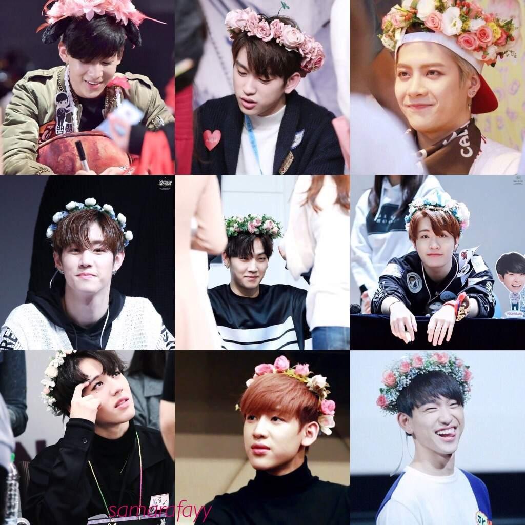 Got7 Flower Crown Collage Credit Jiybaekhun K Pop Amino
