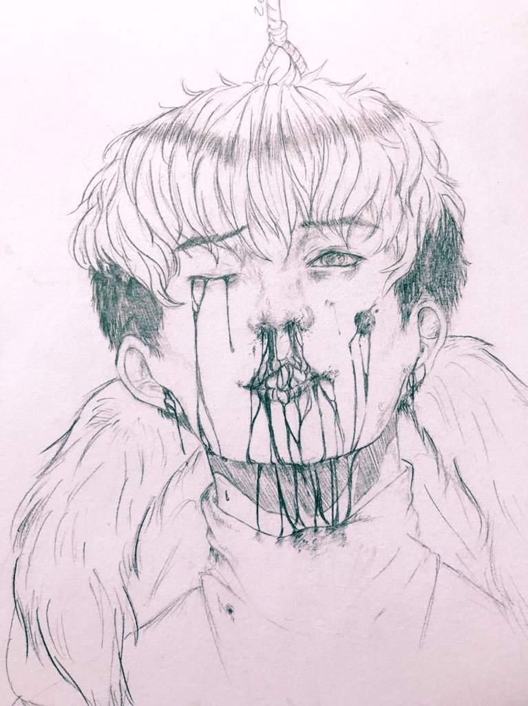 semi realistic sangwoo drawing ㅋㅋㅋ killing stalking webcomic